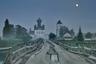 Архангельская область. Измайловская (Кенорецкая) церковь Параскевы Пятницы, возведенная в 1805 году. К ней ведет старый «ряжевый» мост XVIII века. Снимок сделан в одну из белых ночей.