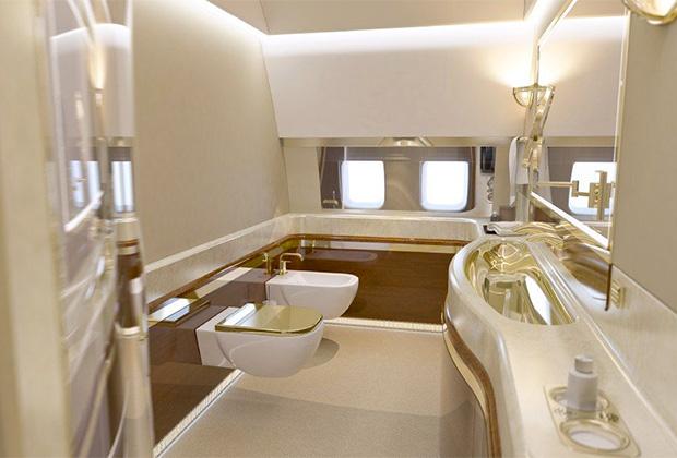 Ванная в самолете президента России Владимира Путина