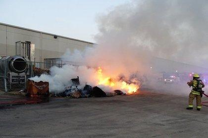 Самовоспламенившиеся чипсы дважды подожгли завод в США