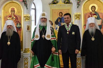 Патриарх Кирилл вручил Воробьеву православный орден