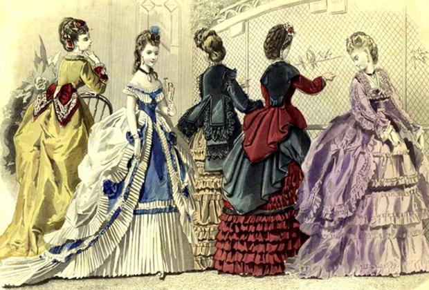 Парижские моды, вторая половина XIX века