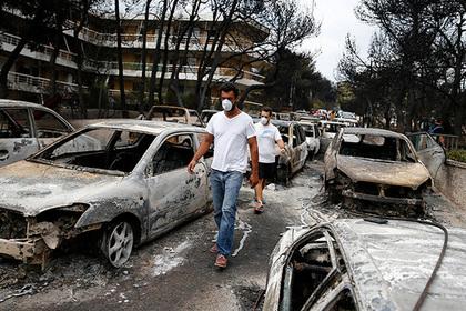 Названо число российских туристов в охваченном пожарами регионе Греции