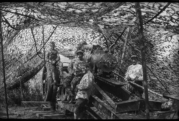 Портрет артиллеристов на боевой позиции.