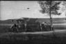 Привал во время движения артиллерийских войск на фронт.