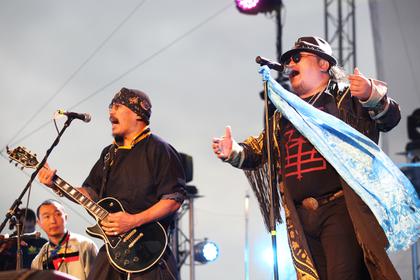На сцене фестиваля «Голос кочевников»— китайская группа Hanggai