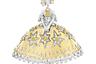 Без брошей-принцесс (фей, балерин) с личиками из бриллиантов огранки «роза» не обходится ни одна высокая ювелирная коллекция Van Cleef & Arpels. На сей раз эту роль сыграли принцессы из сказки братьев Гримм «12 танцующих принцесс». Золотую юбку принцессы Даники украшают бриллианты и желтые сапфиры.
