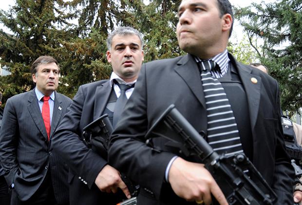 Михаил Саакашвили во время войны 2008 года