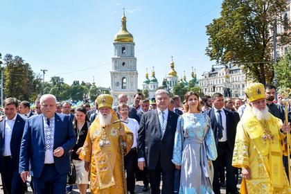 Петр Порошенко на праздновании 1030-летия крещения Руси в Киеве