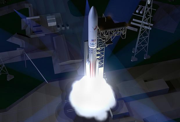 """Частично многоразовая ракета Vulcan, рассчитанная на выведение на низкую околоземную орбиту до 40 тонн полезной нагрузки, впервые должна стартовать в 2020 году. Носитель создается альянсом ULA (United Launch Alliance), совместным предприятием Boeing и Lockheed Martin, производителем носителей Atlas 5 и Delta IV Heavy, которые Vulcan должна заменить к середине 2020-х. <br> <br> Два однокамерных BE-4, устанавливаемых на первую ступень носителя Vulcan (фактически Atlas 6), в совокупности позволят развить большую тягу, чем один российский двухкамерный агрегат РД-180 первой ступени Atlas 5. В отличие от РД-180, работающего на керосине, BE-4 использует метан. Этот же силовой агрегат, разрабатываемый Blue Origin, получит New Glenn. <br> <br> Изначально Vulcan является двухступенчатой ракетой, которая к 2024 году получит в качестве дополнительной опции третий этап. Получившая название ACES (Advanced Cryogenic Evolved Stage) верхняя ступень, оснащенная водородным двигателем, будет способна работать на околоземной орбите в течение нескольких месяцев, что позволяет после дозаправки использовать ее в качестве буксира для межпланетного корабля. <br> <br> Пуск Vulcan в минимальной конфигурации составит менее ста миллионов долларов. При этом стоимость выведения килограмма полезной нагрузки новым носителем <a href=""""https://lenta.ru/news/2018/02/25/vulcan/"""" target=""""_blank"""">окажется</a> ниже, чем у российских одноразовых тяжелых ракет «Протон-М» (до 23 тонн на низкую околоземную орбиту за 65 миллионов долларов) и «Ангара-А5» (до 25,8 тонны за 100 миллионов долларов)."""