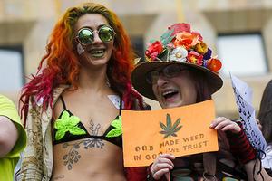 Акция за легализацию марихуаны в Тбилиси