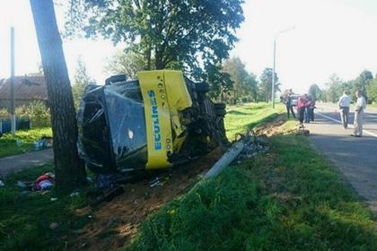 Автобус стуристами изМолдовы перевернулся в Республики Беларусь