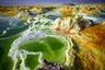 Впадина Данакиль находится в одноименной пустыне на границе Эфиопии и Эритреи. Это самое жаркое место на Земле, если брать в расчет не рекордный максимум, а среднегодовую температуру. Зимой столбик термометра в Данакиле не опускается ниже плюс 34 градусов по Цельсию, а летом — ниже 40. Максимальная температура на солнце — 63 градуса.