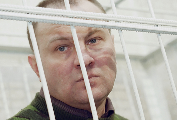 Бывший полковник Российской армии Юрий Буданов в зале суда. Ростов-на-Дону
