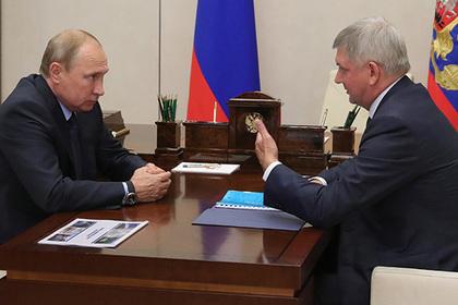 Владимир Путин и Александр Гусев