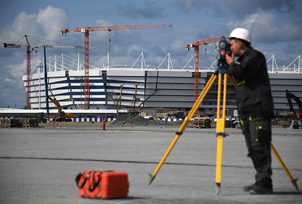 Строительство стадиона «Калининград»