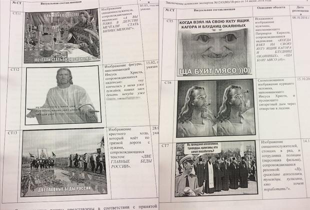 Часть картинок и заключение лингвистической экспертизы