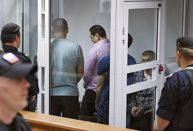 Оглашение приговора пятерым участникам банды GTA, обвиняемым в убийствах и нападениях на водителей на подмосковных трассах в Мособлсуде