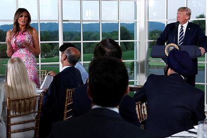 Мелания Трамп появилась на публике в подержанном платье