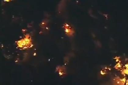 Опубликовано видео с места падения угнанного пассажирского самолета