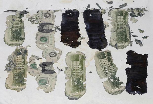 Найденная через девять лет часть выкупа; остальные деньги до сих пор не обнаружены