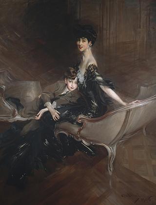 Консуэло Вандербильт с сыном Айвором, портрет кисти Джованни Больдини