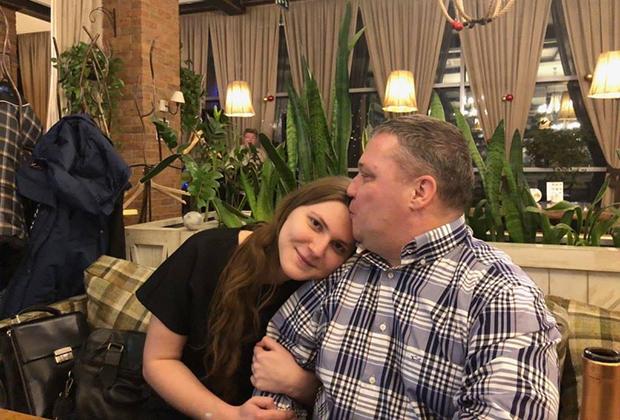 Анна Павликова с отцом