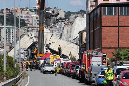 Спасатели предупредили об обрушении еще одной части моста в Генуе