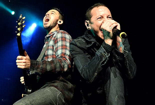Январь 2014 года. Концерт группы Linkin Park в Лас-Вегасе. Майк Шинода и Честер Беннингтон
