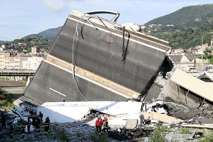 После обрушения моста в Генуе ввели годовой режим ЧП