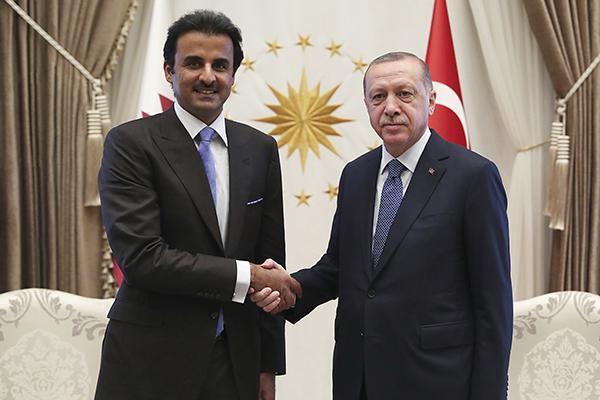 Тамим бин Хамад Аль Тани и Реджеп Тайип Эрдоган