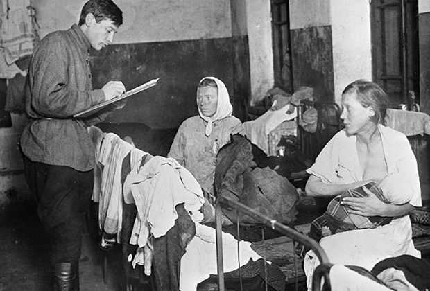 Перепись женщин в ночлежном доме, 1919 год