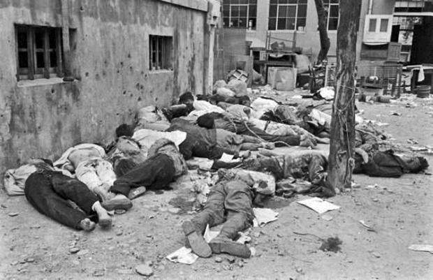 Жертвы массового убийства на острове Чеджу. 1948 год