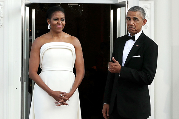 Мишель Обама в платье Brandon Maxwell