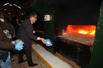 ВАргентине сожгли практически 400кг кокаина