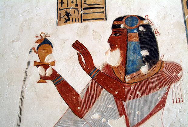 Египетская фреска с изображением сына фараона Рамзеса IX