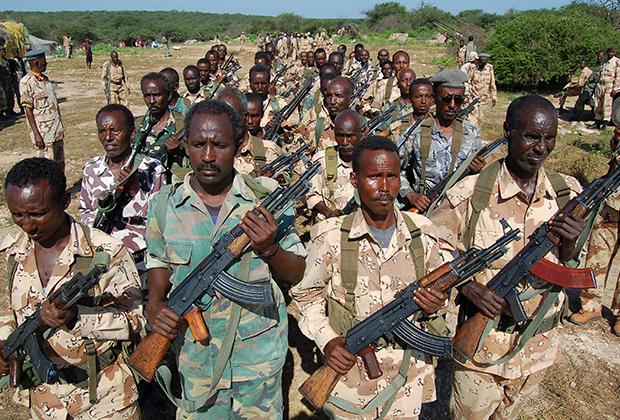 Британцы тренируют сомалийцев в своем центре, расположенном в городе Байдабо.