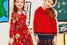 Толстовка с надписью и юбка в складку из тартана, который у нас называют «шотландкой», — самая интересная и привлекательная школьная форма для девочек.