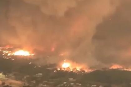 Американец рассказал о бегстве от огненного торнадо на горящем пикапе