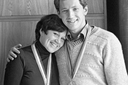Валентина Растворова с сыном Евгением Гришиным