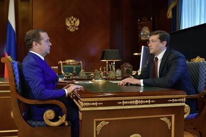 Дмитрий Медведев и Глеб Никитин