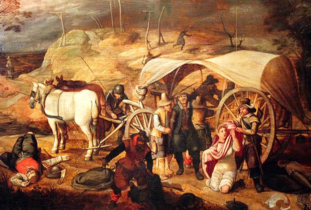 Картина Себастьяна Вранкса «Мародерствующие солдаты»