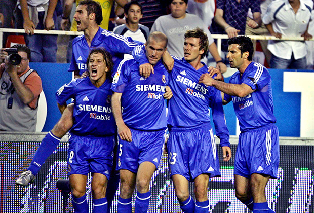Футболисты «Реала» празднуют гол