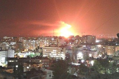 Ракетный обстрел Дамаска оказался «коротким замыканием» на складе боеприпасов