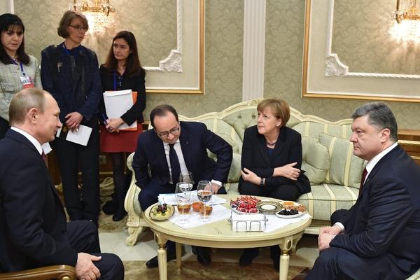 Встреча «нормандской четверки» в Минске в 2015 году