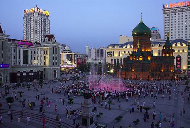 Православный Софийский собор в современном Харбине. Китай, провинция Хэйлунцзян