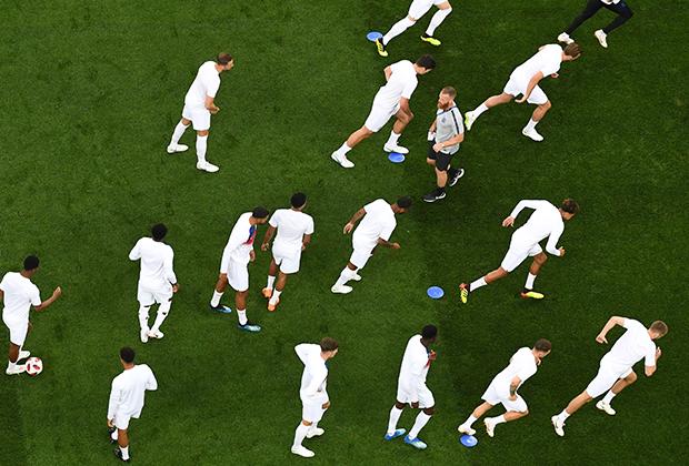 Игроки сборной Англии готовятся к матчу