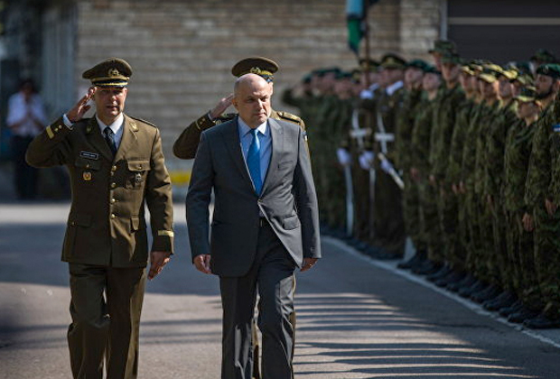 Министр обороны Эстонии Юри Луйк на церемонии, посвященной созданию Кибернетического командования