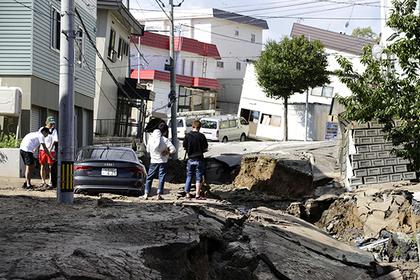 Землетрясение в Японии вызвало смертельный оползень