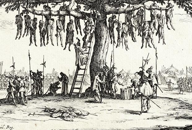 Гравюра Жака Калло «Ужасы войны. Повешенные»