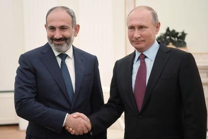 Пашинян привез на встречу с Путиным коньяк